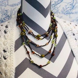 Beaded Necklace Multicolor